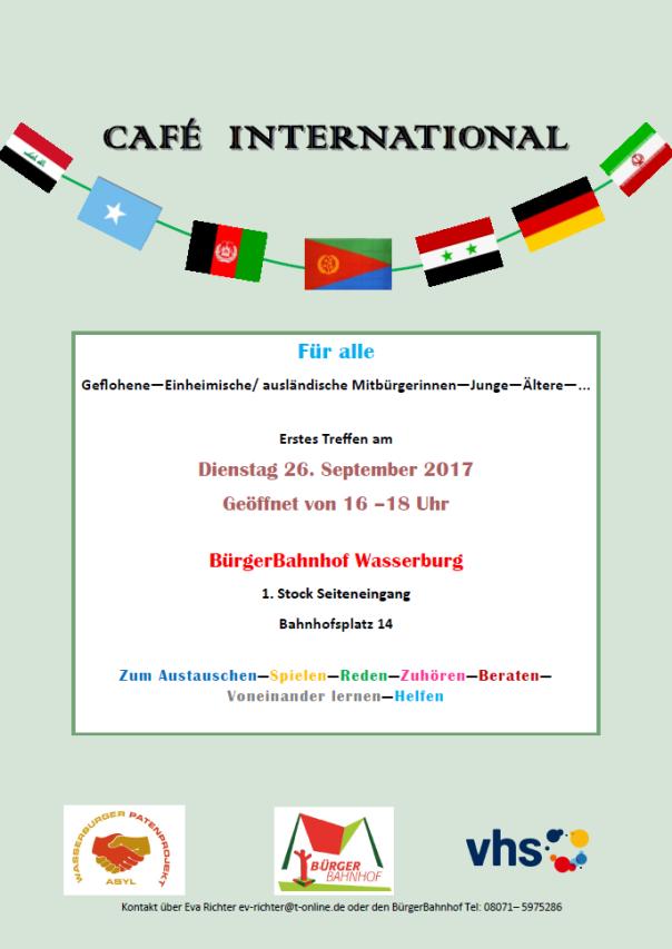 Plakat Flüchtlingscafé