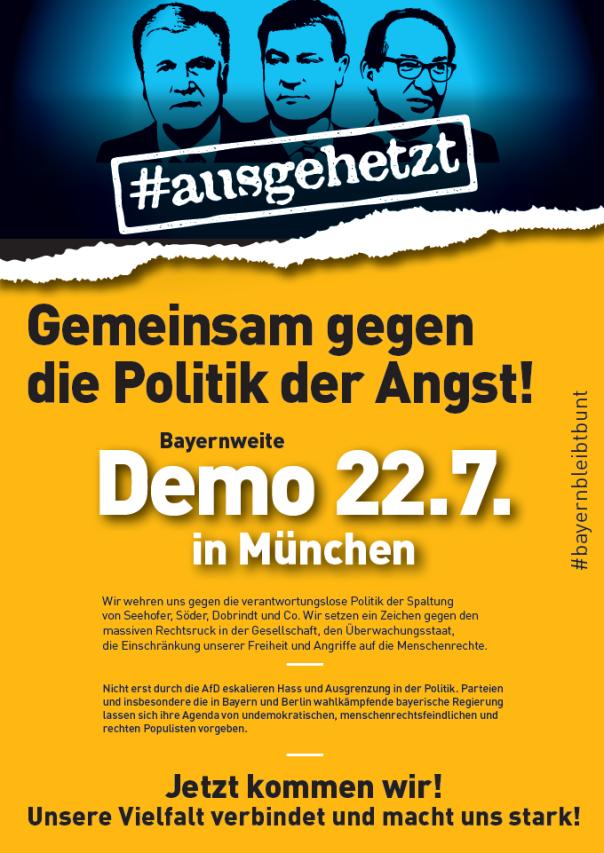 Demo ausgehetzt Plakat