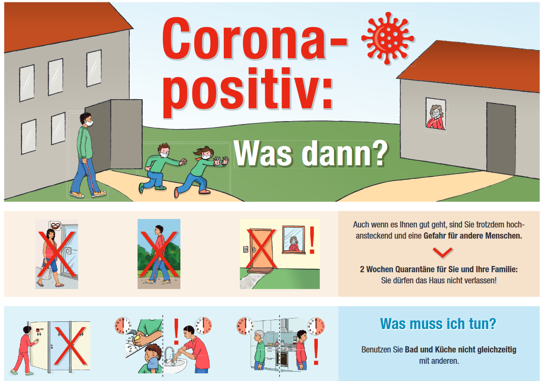 Plakat Corona positiv
